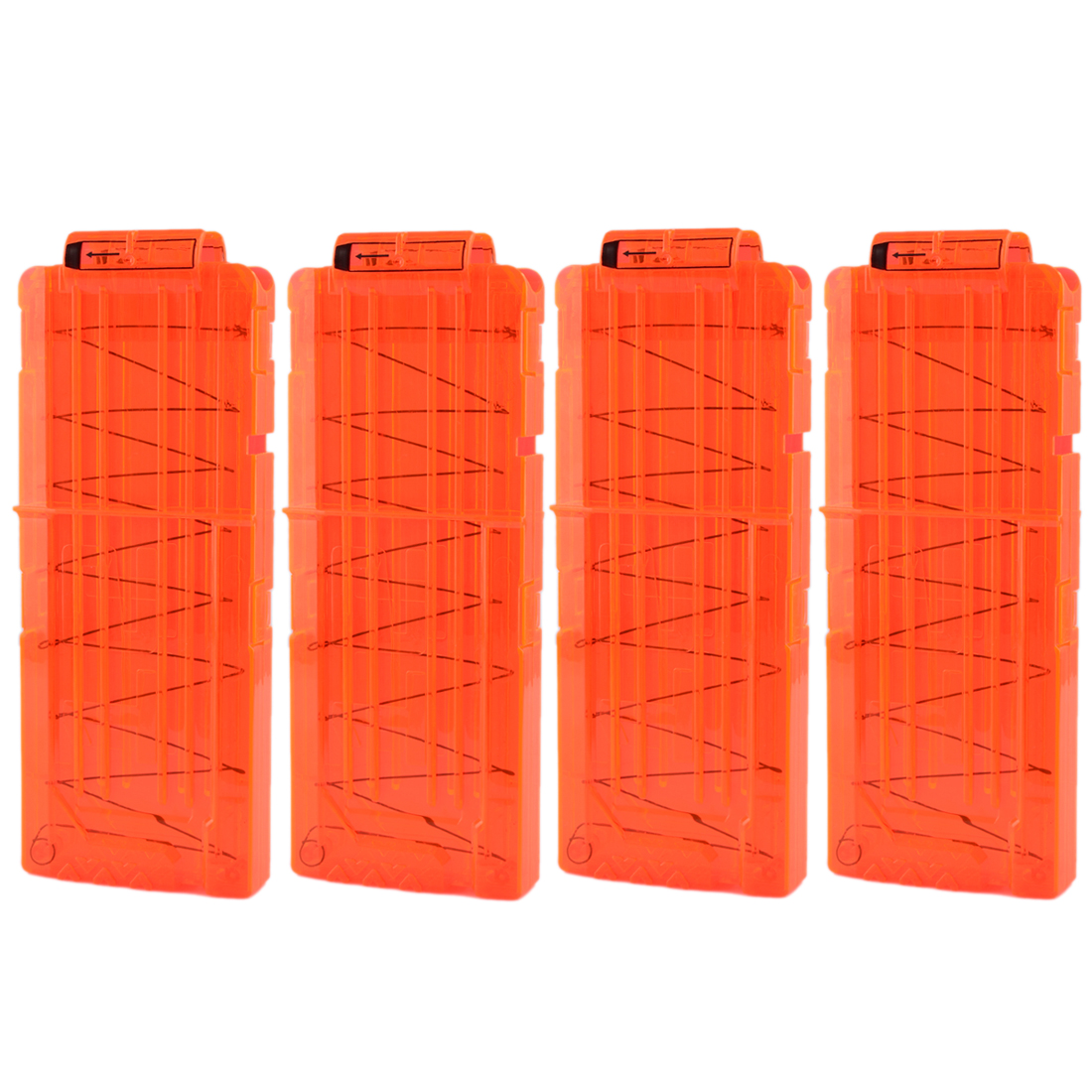 4Pcs Soft Bullet Clips For Nerf N-strike Elite Series 12 Bullets Ammo Cartridge Dart For Nerf Bullet Clips - Orange