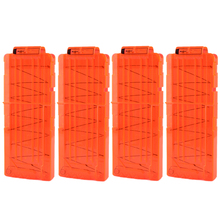 4Pcs Soft Bullet Clips For Nerf N-strike Elite Series 12 Bullets Ammo Cartridge Dart for - Orange