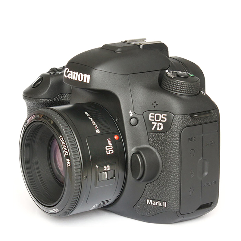 YONGNUO YN50mm YN50 F1 8 EF EOS 50MM AF MF Canon Camera Lens For Canon Rebel T6 EOS 700D 750D 800D 5D Mark II IV 10D 1300D in Photo Studio Accessories from Consumer Electronics