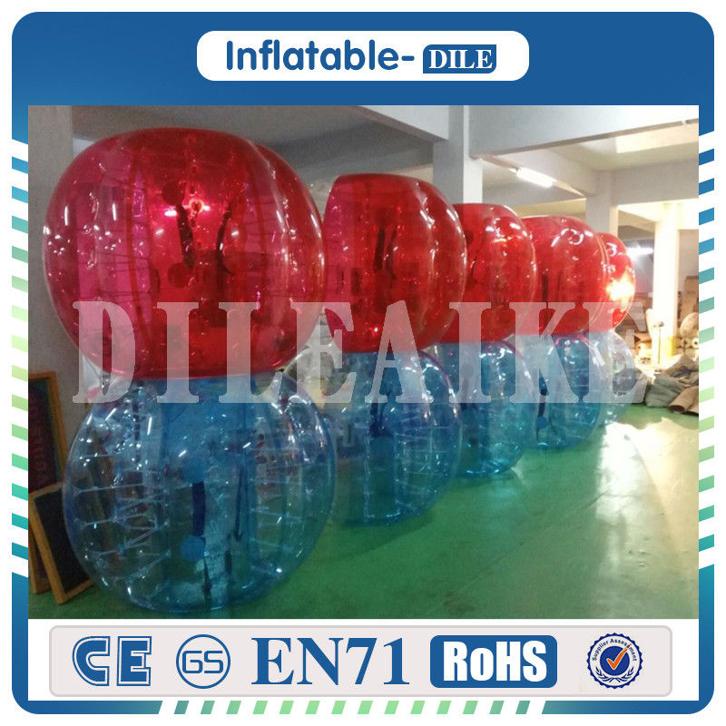 Free Shipping 10 PCS 5Blue 5Red 1Pump 1 2 Meter Diameter Inflatable Bubble font b Football