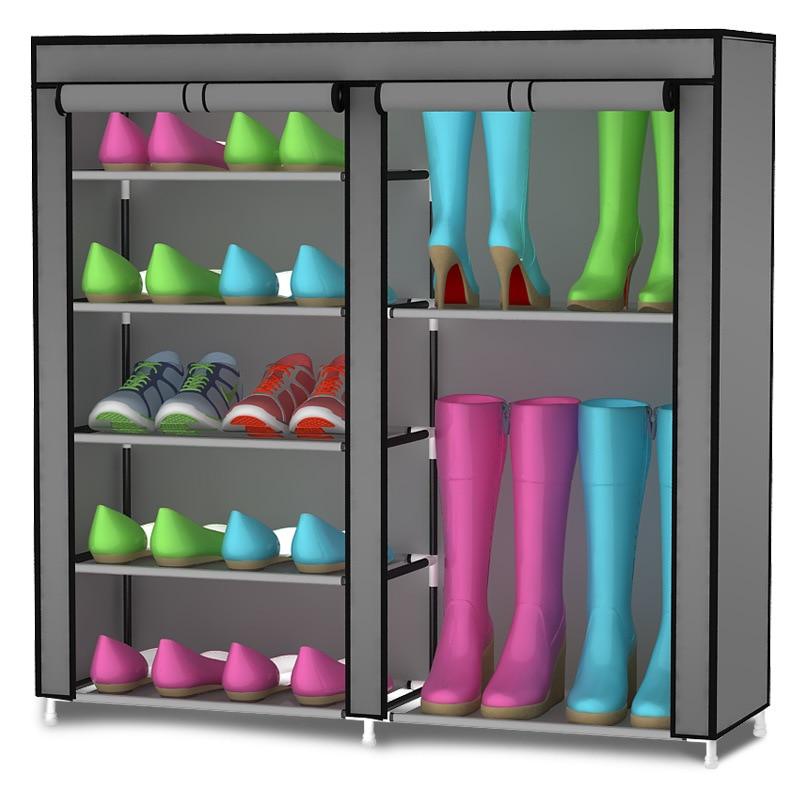 Бесплатная доставка домашней обувной шкаф туфли стеллажи для хранения большой емкости Мебель для дома DIY простой
