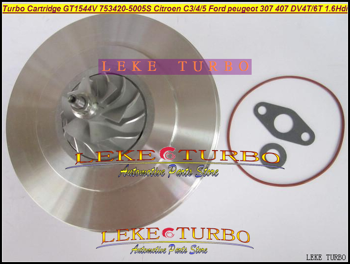 TURBO Cartridge CHRA GT1544V 753420 753420-0004 753420-0002 750030 For CITROEN C3 C4 C5 206 307 407 C-Max S40 V40 DV4T DV6T 1.6L turbo cartridge chra gt1544v 753420 750030 740821 753420 0002 753420 0004 740821 0002 for citroen c3 c4 c5 307 407 v50 dv4t 1 6l