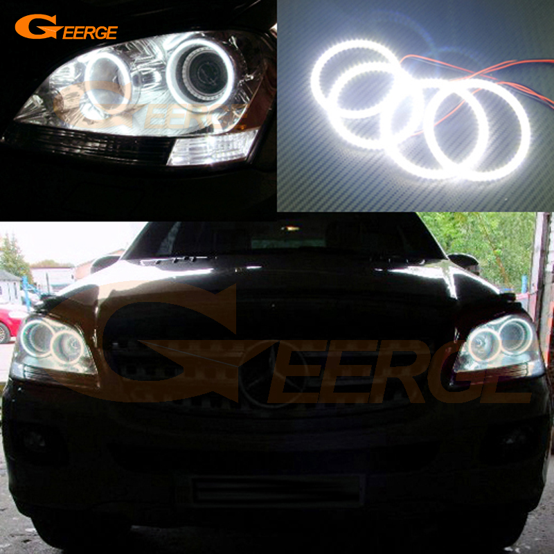 For Mercedes-Benz M-Class ML320 ML350 ML500 ML63 AMG 2006 2007 Excellent Ultra bright smd led Angel Eyes kit car rear trunk security shield cargo cover for mercedes benz ml class w164 ml300 ml350 ml500 2006 2012 high qualit accessories