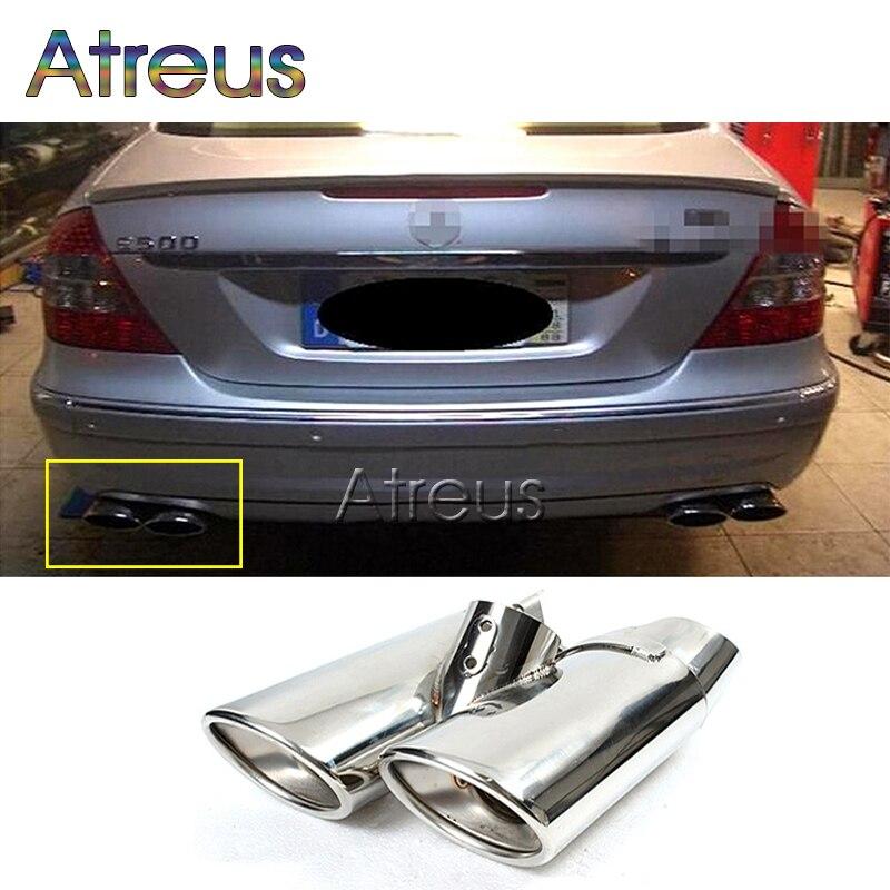 Embouts de tuyau d'échappement de voiture en acier inoxydable de haute qualité pour Mercedes Benz W220 classe S S430 S500 embouts de silencieux doubles accessoires AMG