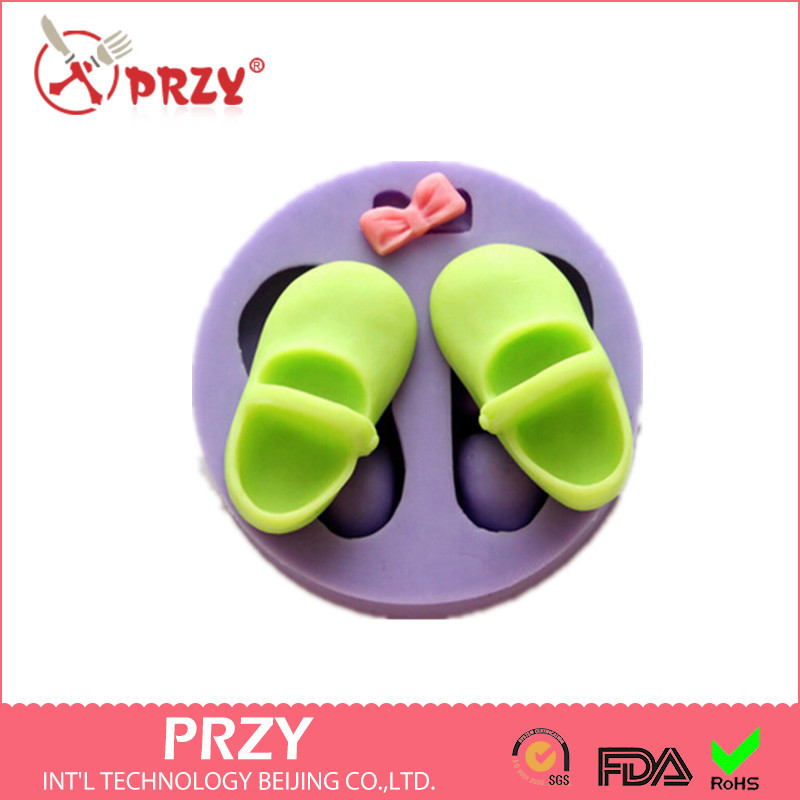 New style Cute Bow /Shoes hot sale chocolate silicon mold fondant Cake decoration mold soap mold