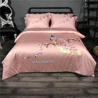 100% Egypt cotton royal luxury bedding set peacock quilt cover sheets pillowcase 4pcs