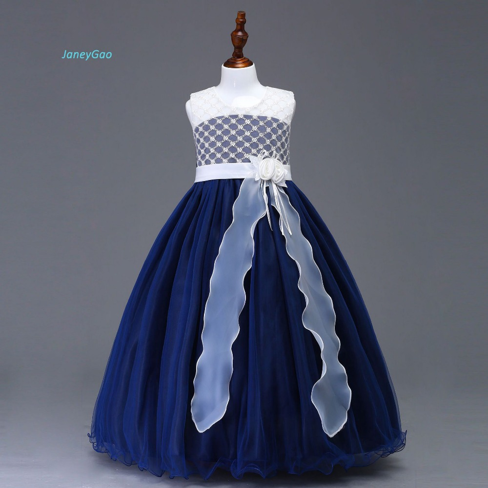 JaneyGao Flower Girl Dress For Wedding Party First Communion Dresses ...