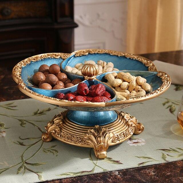 Europischen Luxus Trockenen Fruchtkompott Harz Gitter Amerikanischen Wohnzimmer Tisch Ornamente Von Einrichtungs Dekorationen
