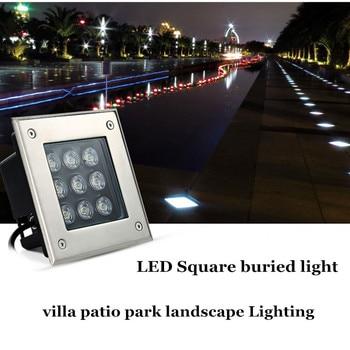 LED חיצוני תאורת פרק הורקה נקבר אור 6 W DC12V AC85-265V דשא כיכר פאטיו פרח מיטת דקור קבור רצפת אור spotlig