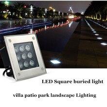LED Outdoor Lighting Park Greening Buried Light 6W DC12V AC85-265V Lawn Square Patio Flower Bed Decor Floor Spotlig
