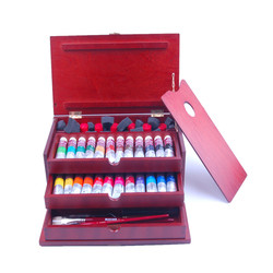 Free shipping Lukas limited edition 18 sets of Lukas The expert level oil paints paint mahogany box suit