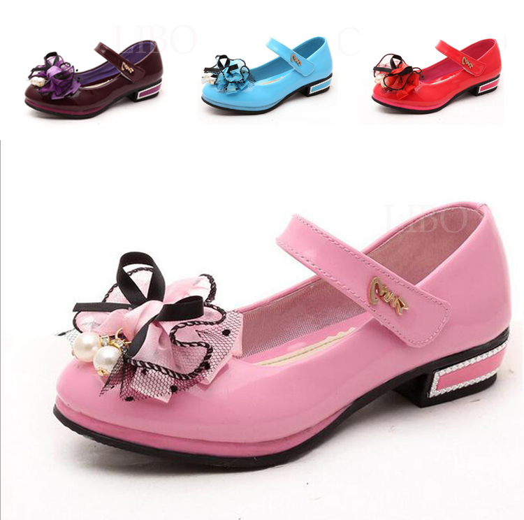 2019 Spring Summer Children Princess Sandals Kids Girls Wedding Dress Shoes Comfortable Single Shoes For Girls Leather Bowtie
