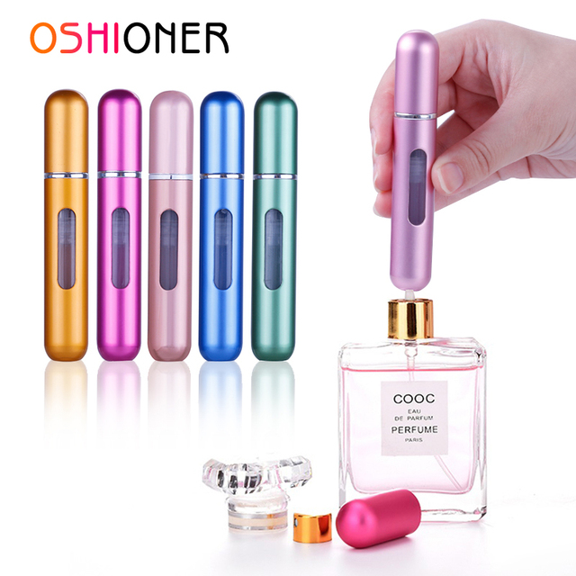 OSHIONER 8ml aerosol de Perfume botella rellenable atomizador de aluminio portátil viaje cosmético contenedor botella de Perfume