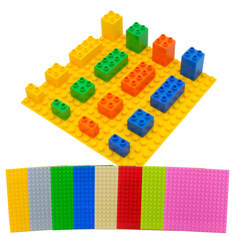 Big Particle DIY LegoINGly Duploed Building Block Accessories Colorful Blocks Baseplates Toys Base Plate For Baby Children Gifts