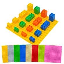 цены на Big Size DIY Building Block Accessories Compatible Large Particles Colorful Blocks Bricks Toys Base Plate For Baby Gifts  в интернет-магазинах