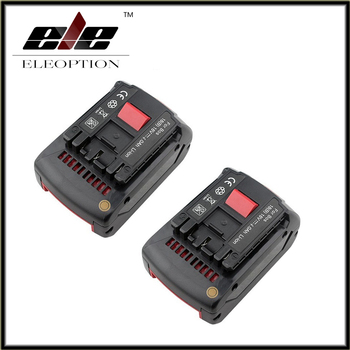 2 pcs Replacement for Bosch Rechargeable battery 18v 4.0 Ah Li-ion Battery for Bosch 17618 BAT609 BAT618 with led light