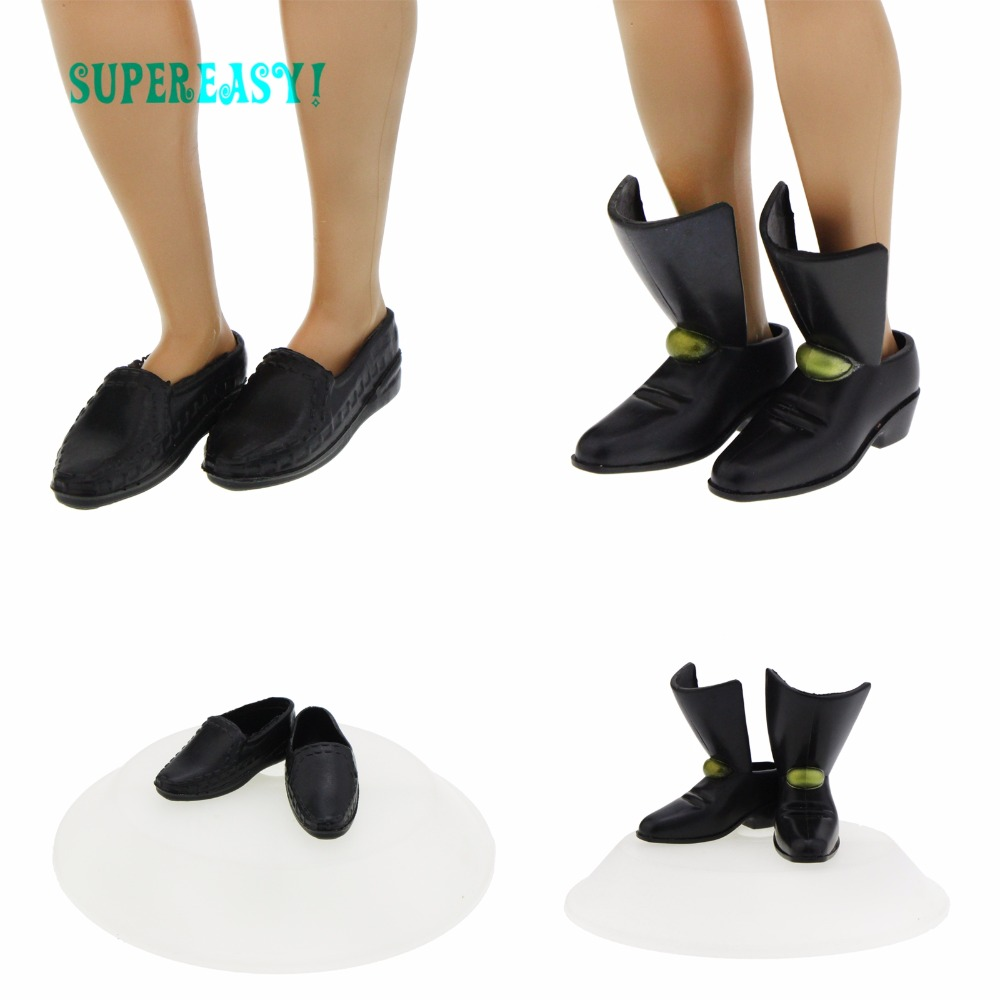2 Pcs High Quality Shoes Mixed Style Fashion Daily Wear Prince Cool Male DIY Accessories For Barbie Doll Boyfriend Ken Gift Toy