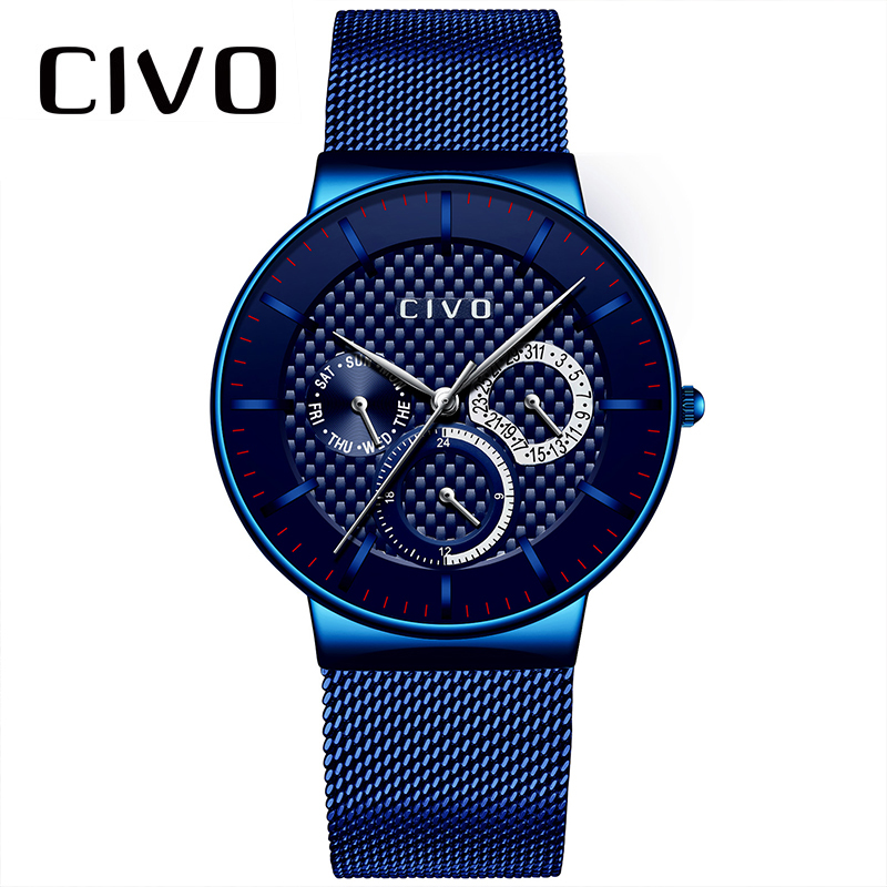 CIVO Waterproof Military Quartz Watch Men Sports Wrist Watches For Men Chronograph Date Calendar Analog Relogio Watch Male Clock цена