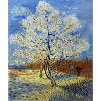Handmade oil painting reproduction of Vincent Van Gogh High quality Pink Peach Tree Living room decor фото