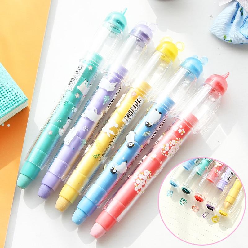 MIRUI  Cute Cartoon Multi-function Eraser Creative Seal Eraser Replaceable Core Eraser Student School Supplies