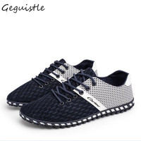 Fashion Men Casual Shoes Summer High Quality Mesh Light Sapato Masculino Leisure Mixed Colors Lace Up