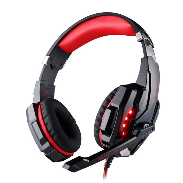 2015 kotion cada g9000 3.5mm gaming headphone headset headband fone de ouvido com microfone led light para laptop mobile phones/xbox one/ps4