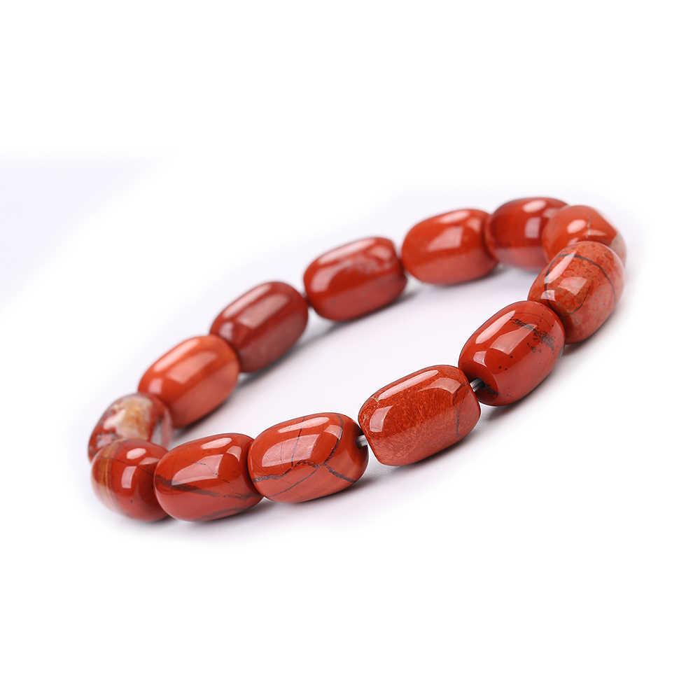 2019 moda naturalny kamień bransoletka z bursztynu dla kobiet mężczyzn Tiger Eye Amythests Turquois Agat koraliki bransoletka jogi bransoletki