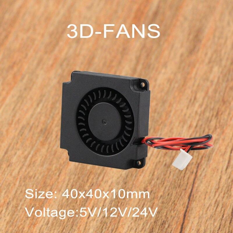 3D Printer 5V / 12V 24V Turbine Fan 40mm * 10mm 4010 DC Turbo Fan 5V Bearing Blower Radial Cooling Fans for Creality CR-10 Kit3D Printer 5V / 12V 24V Turbine Fan 40mm * 10mm 4010 DC Turbo Fan 5V Bearing Blower Radial Cooling Fans for Creality CR-10 Kit