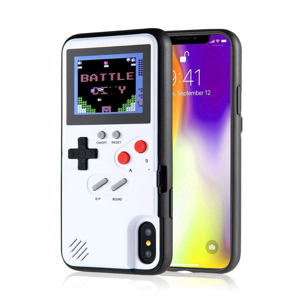 c3aa64ee486 Full Color Display 3D GameBoy Phone Case for iPhone 7 8 6 6s Plus X Classic  Retro Tetris Game Cover for iPhone X 8 7 6 Coque