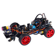 Smart Robot Car Kit with UNO R3 Board Obstacle Avoiding Line Tracing Light Seeking Remote Educational Toy Car for Arduino