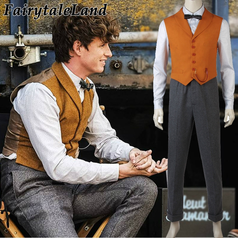 Fantastic Beasts 2 Newt Scamander Costume Cosplay Halloween Costume Unisex Suit Newt Scamander Fancy Costume Custom made-in Movie & TV costumes from Novelty & Special Use    1