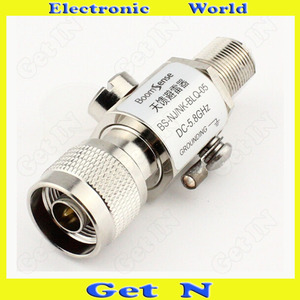 5pcs N Type Lightning Arrestor Connector for Antenna/BS Protector Converting N Male to N Female