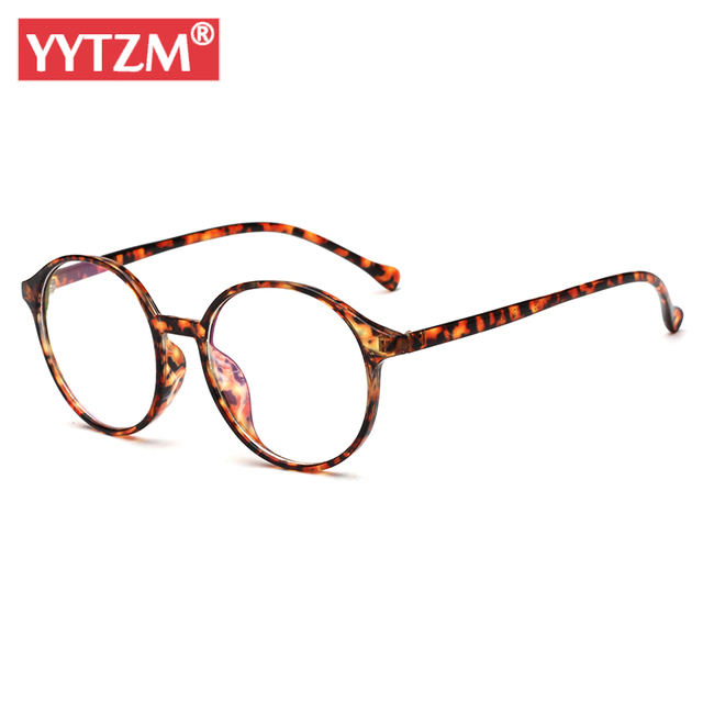YYTZM Glasses Frame Women Men Spectacles Clean Glasses Round Fake ...