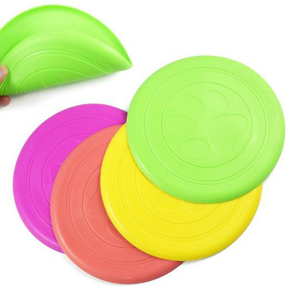 1 PC/S High Quality Flying Flexible Disc Tooth Resistant Outdoor Puppy Pets Training Fetch Toy Silicone Dog Toy