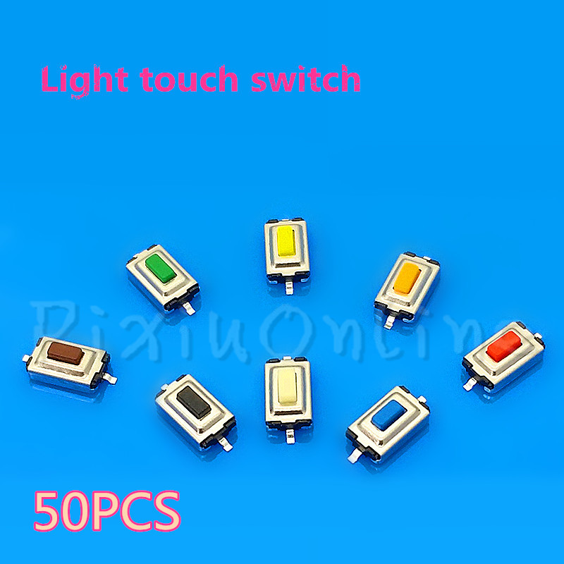 50PCS ST046b 3*6*2.5MM Light Touch Switch Five Color High Quality Touch Micro Push Button Switches Tools Sell At A Loss 50pcs lot 6x6x7mm 4pin g92 tactile tact push button micro switch direct self reset dip top copper free shipping russia