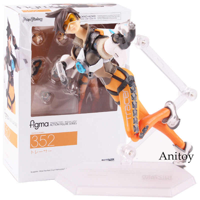 "Overwatch Tracer Figma 352 Action PVC Figure OW Model Toys 5/"" New In Box"