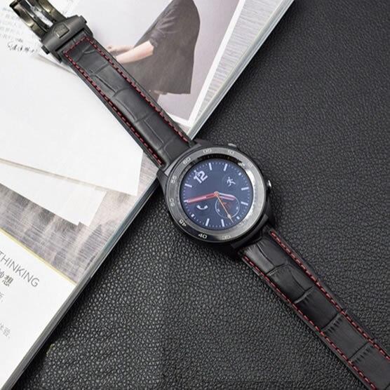 20 мм 22 мм ремешок из натуральной кожи для samsung Galaxy Watch gear S3 S2 Classic Frontier huawei watch 2 pro huami браслет