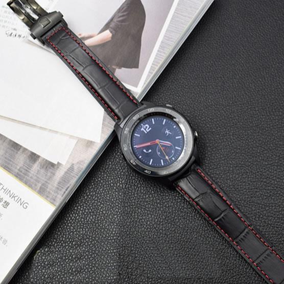 20mm 22mm ehtne nahkriba rihm Samsung Galaxy kellavarustusele S3 S2 - Kellade tarvikud