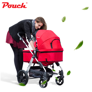 Pouch P68 Light weight 2 in 1 stroller with Storage Pushchair Portable Baby pram with car seat 3 in 1(need to buy the carrier) 1