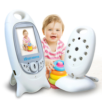 2016 Hot Baba Electronics Video Baby Monitor 2 4GHz IR Nightvision Temperature Monitor 2 Way Talk