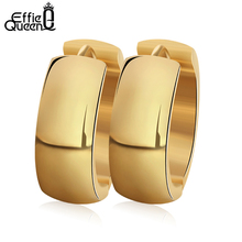 Effie queen Прохладный золотого цвета, женские серьги в виде колец, Для женщин панк Нержавеющая сталь Серьги Brincos, можно носить с ювелирные изделия вечерние подарок IE16