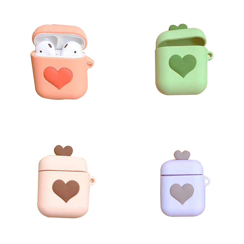 3D Cute Disney Pink love for airpods silicone protective cover Apple wireless Bluetooth for apple Airpods Charging Case image
