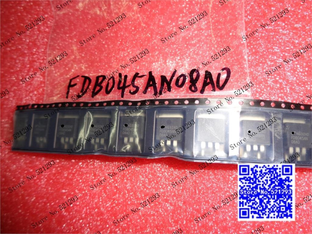Original FDB045AN08AO FDB045AN08A0 FDB045AN TO263 50PCS LOT in Stock