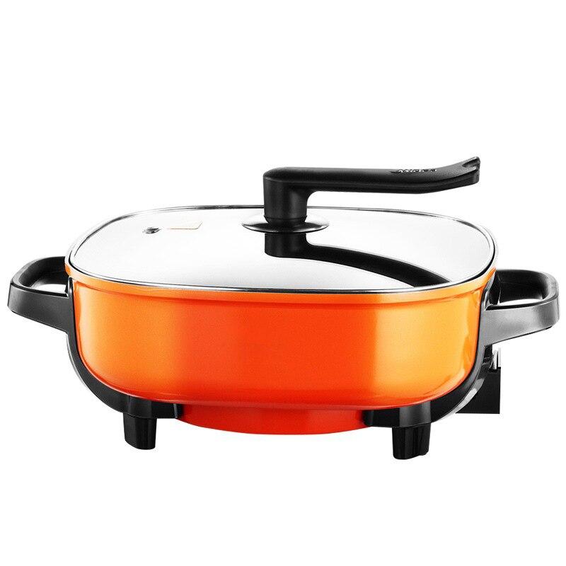 DMWD 1500 Вт Многофункциональный Электрический Плита креп блин чайник домой Электрический сковородке барбекю сковородку Пан DIY Hotpot антипригарным 220 В