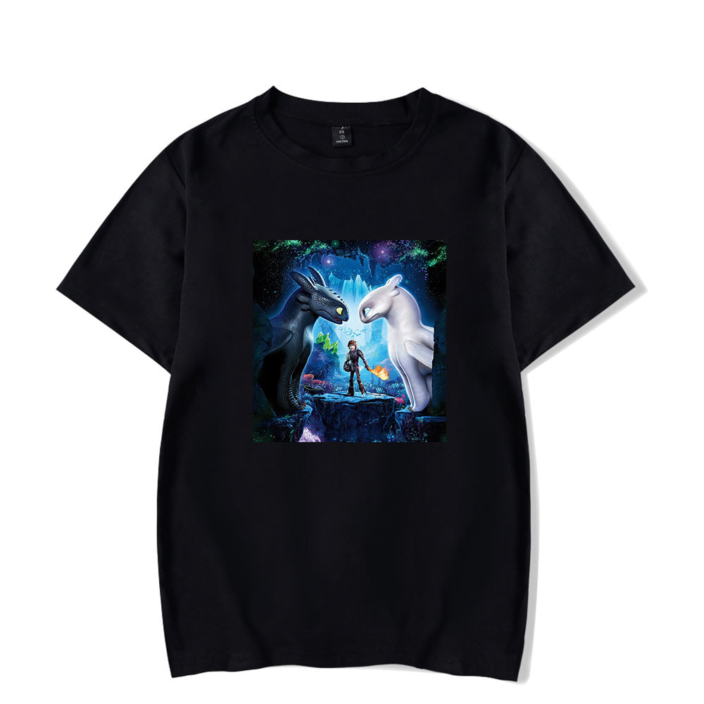 How to Train Your Dragon The Hidden World Toothless Light Fury 3D Print Casual T-shirt Men Women Tops Tees
