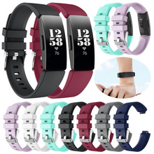 New Fashion Sports Silicone Strap For Fitbit Inspire/Inspire HR Wristband Bracelet Band Wrist Drop Shipping 315#2