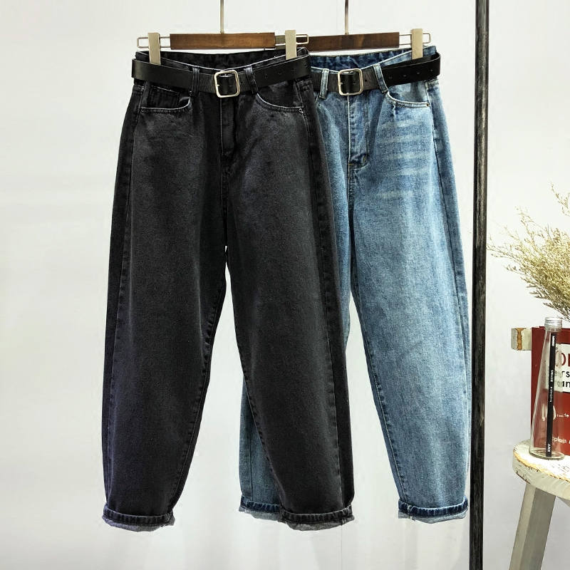 Autumn Winter Women High Waist   Jeans   Mujer Long Harem Pants Women Casual Boyfriend   Jeans   For Women Denim Wide Leg Trousers C4913
