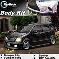Бампер губы дефлектор губы для Suzuki Karimun вагон-роуд R / Solio передний спойлер юбка для TopGear тюнинга автомобилей / обвес / газа
