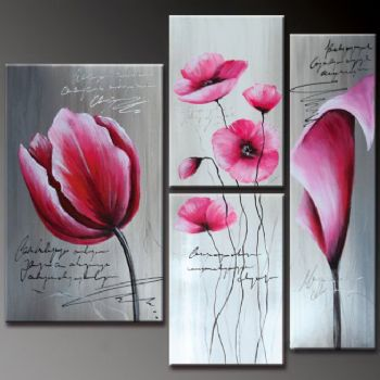 3 pieces hand painted oil painting pink flowers modern oil 3 pieces hand painted oil painting pink flowers modern oil painting on canvas art floral oil painting wall art ready to hang mightylinksfo