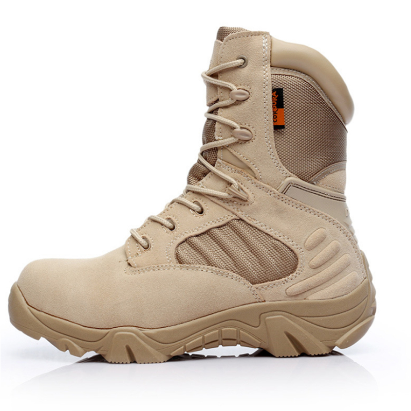 2018 winter outdoor military boots men's special forces combat shoes tactical boots desert boots hiking shoes high to help wear brand fishing waders security staff special forces shoes ski bodyguard women trekking tactical desert climb combat land boots
